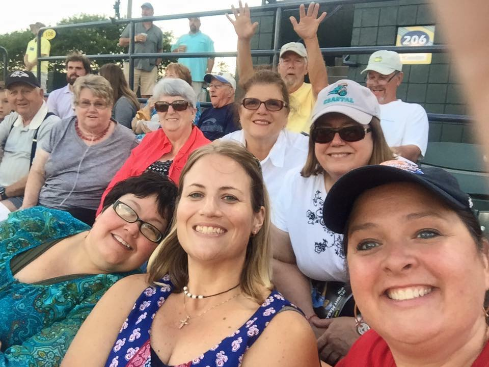 friends group baseball game